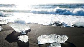 Glaciar de los azules claros del oc?ano almacen de metraje de vídeo