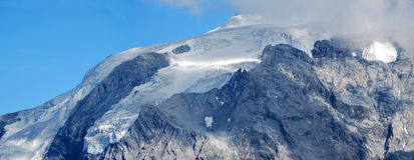 Glaciar de los ortles del paso de Stelvio Fotografía de archivo