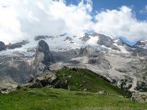 Glaciar de Marmolada Imagen de archivo libre de regalías