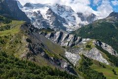 Glaciar de Meije cerca del sepulcro del la (Francia) Imagen de archivo libre de regalías