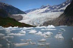 Glaciar de Mendenhall Foto de archivo libre de regalías