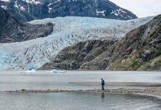 Glaciar de Mendenhall fotos de archivo libres de regalías