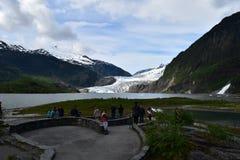 Glaciar de Mendenhall fotos de archivo