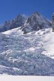 Glaciar de Mont Blanc fotos de archivo libres de regalías