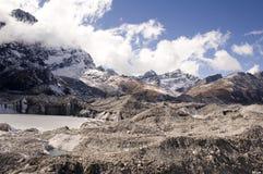 Glaciar de Ngozumpa Fotos de archivo libres de regalías