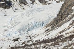 Glaciar de Nigardsbreen en invierno imágenes de archivo libres de regalías