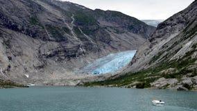 Glaciar de Nigardsbreen, Noruega Foto de archivo