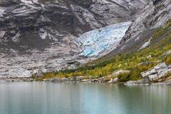 Glaciar de Nigardsbreen y lago Nigardsbrevatnet Fotografía de archivo
