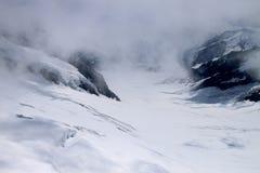 Glaciar de ocultación de Aletsch Foto de archivo libre de regalías