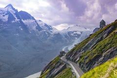 Glaciar de Pasterze Alto camino alpestre de Grossglockner austria imagen de archivo libre de regalías