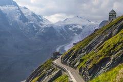 Glaciar de Pasterze Alto camino alpestre de Grossglockner austria fotos de archivo libres de regalías