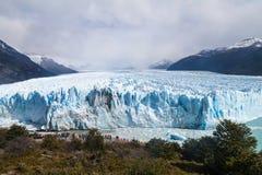 Glaciar de Perito Moreno en el parque nacional Glaciares, Argenti imagen de archivo