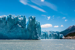 Glaciar de Perito Moreno en un día soleado Fotografía de archivo libre de regalías