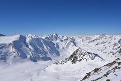 Glaciar de Pitztal, Austria Imagen de archivo