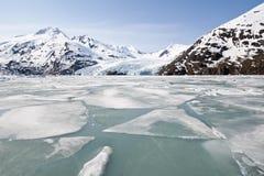Glaciar de Portage Imagen de archivo