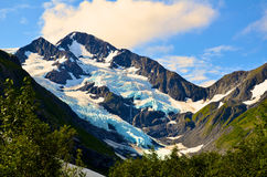 Glaciar de Portage Fotografía de archivo