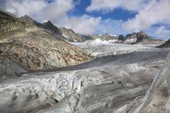Glaciar de Rhone Imágenes de archivo libres de regalías