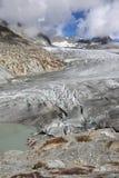 Glaciar de Rhone Fotos de archivo libres de regalías