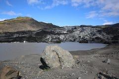 Glaciar de Solheimajokull Imagen de archivo