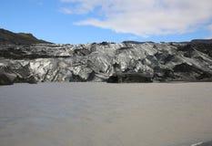 Glaciar de Solheimajokull Imagen de archivo libre de regalías