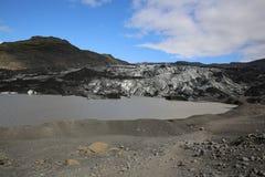 Glaciar de Solheimajokull Fotografía de archivo libre de regalías