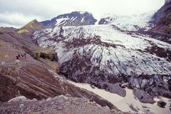 Glaciar de Steinholtsjokull, Islandia Imagen de archivo