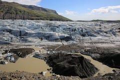 Glaciar de Svinafellsjokull Fotografía de archivo