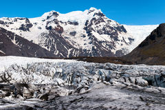 Glaciar de Svinafellsjokull Islandia Imágenes de archivo libres de regalías
