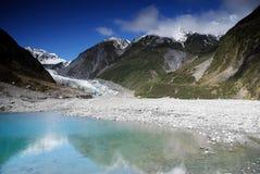 Glaciar del Fox en Nueva Zelanda imagenes de archivo