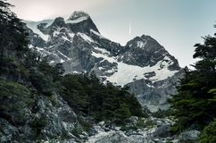 Glaciar del Frances i den Torres del Paine nationalparken i Chile Arkivfoton