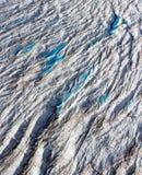Glaciar del mercado, hendiduras, Groenlandia del noroeste Fotografía de archivo libre de regalías
