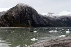 Glaciar del Pia en el archipiélago de Tierra del Fuego fotografía de archivo libre de regalías