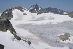 Glaciar del tren Fotografía de archivo libre de regalías