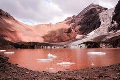 Glaciar El Morado i Anderna, Santiago, Chile Royaltyfri Foto