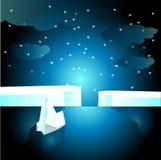 Glaciar en el ilustrador del océano   Imagen de archivo libre de regalías