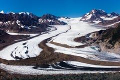 Glaciar en el parque nacional de Wrangell-StElias Fotografía de archivo