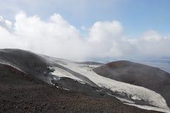 Glaciar en el volcán de Hekla, Islandia. Fotos de archivo