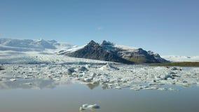 Glaciar en Islandia almacen de metraje de vídeo