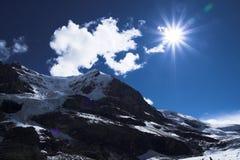 Glaciar en jaspe Fotos de archivo
