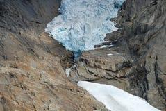 Glaciar en Jostedalsbreen, Noruega de Briksdalsbreen Fotografía de archivo