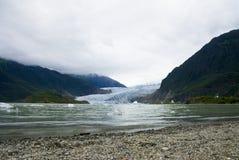 Glaciar en Juneau Alaska fotografía de archivo