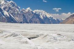 Glaciar en Kirguistán Foto de archivo libre de regalías