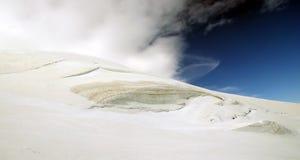 Glaciar en las montañas Fotografía de archivo libre de regalías