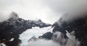 Glaciar en las montañas Fotografía de archivo