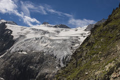 Glaciar en las montañas de Stubaier Fotos de archivo libres de regalías