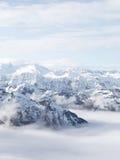 Glaciar en las montañas verticales Fotografía de archivo libre de regalías