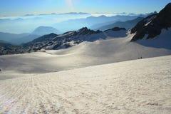Glaciar en las montan@as francesas imagen de archivo libre de regalías