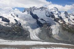 Glaciar en las montan@as suizas. Imágenes de archivo libres de regalías