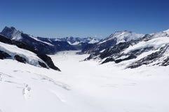 Glaciar en las montan@as suizas foto de archivo libre de regalías