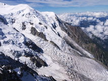 Glaciar en Mont Blanc Fotografía de archivo libre de regalías